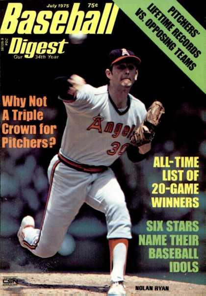 Baseball Digest - July 1975