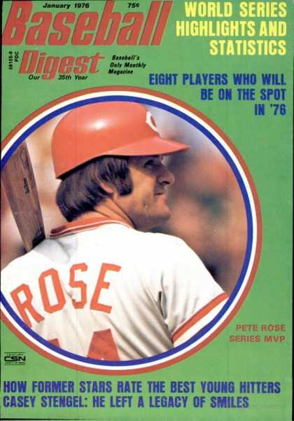 Baseball Digest - January 1976