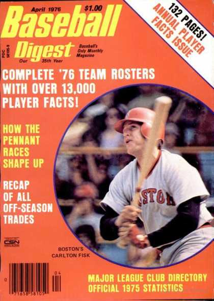 Baseball Digest - April 1976