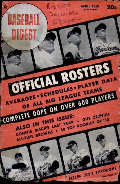 Baseball Digest - April 1950