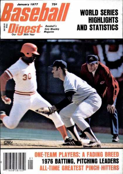 Baseball Digest - January 1977