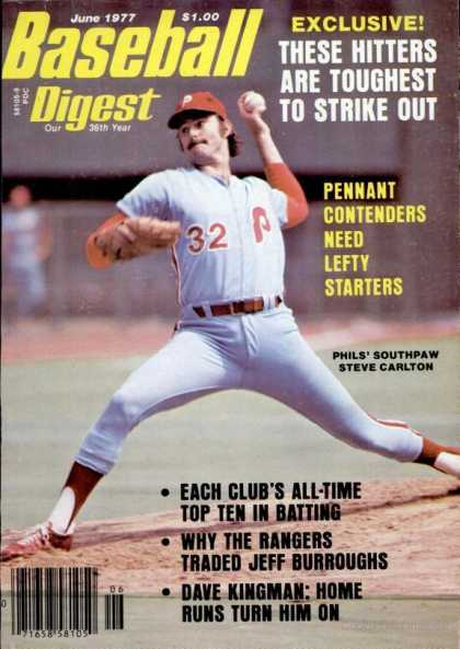 Baseball Digest - June 1977