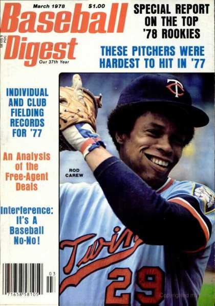 Baseball Digest - March 1978