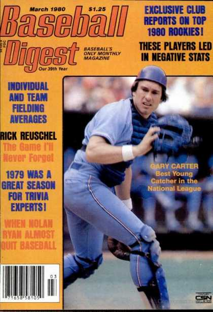 Baseball Digest - March 1980