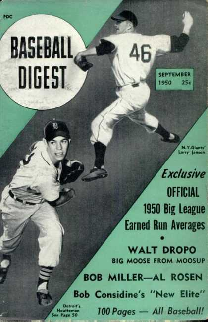 Baseball Digest - September 1950