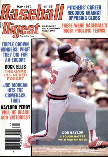 Baseball Digest - May 1980