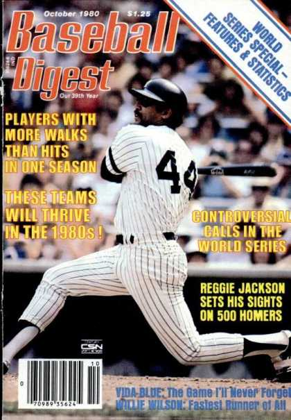 Baseball Digest - October 1980