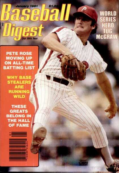 Baseball Digest - January 1981
