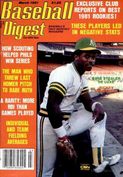Baseball Digest - March 1981