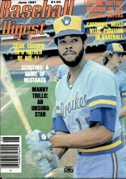 Baseball Digest - June 1981