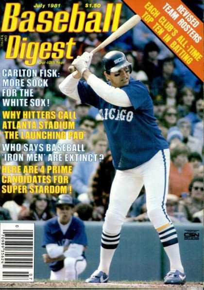Baseball Digest - July 1981