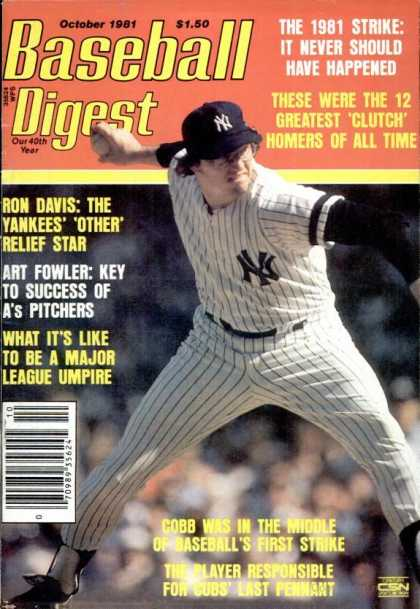 Baseball Digest - October 1981