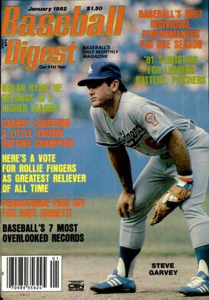 Baseball Digest - January 1982