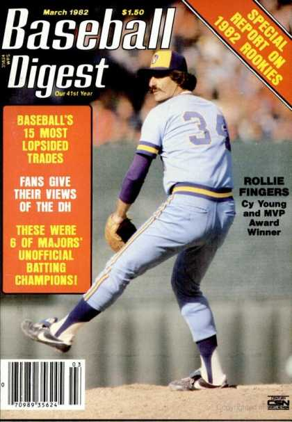 Baseball Digest - March 1982