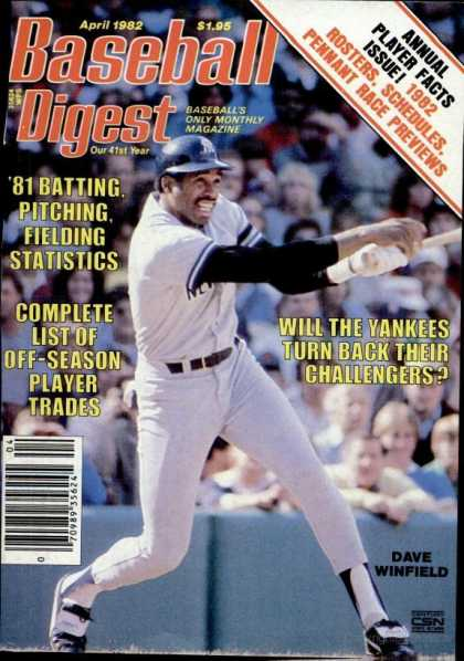 Baseball Digest - April 1982