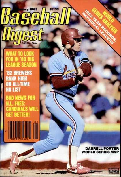 Baseball Digest - January 1983