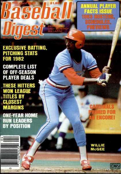 Baseball Digest - April 1983