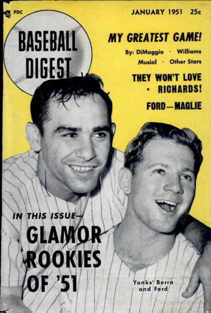 Baseball Digest - January 1951