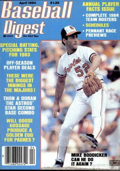 Baseball Digest - April 1984