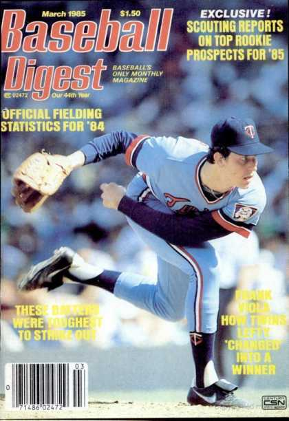 Baseball Digest - March 1985