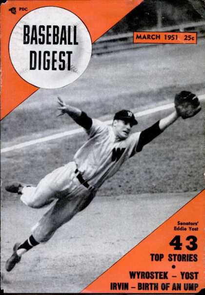 Baseball Digest - March 1951