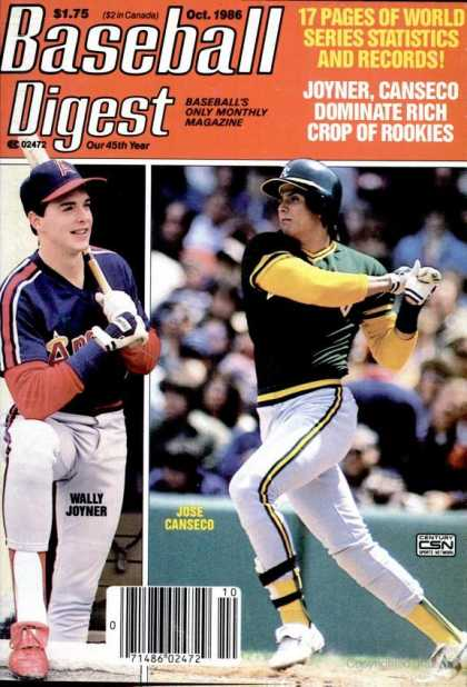 Baseball Digest - October 1986