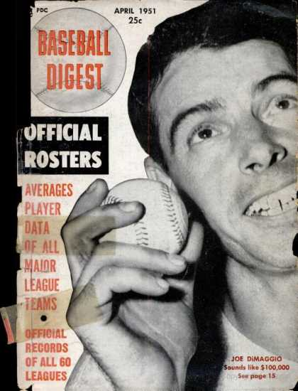 Baseball Digest - April 1951