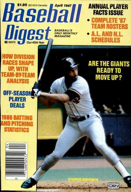 Baseball Digest - April 1987