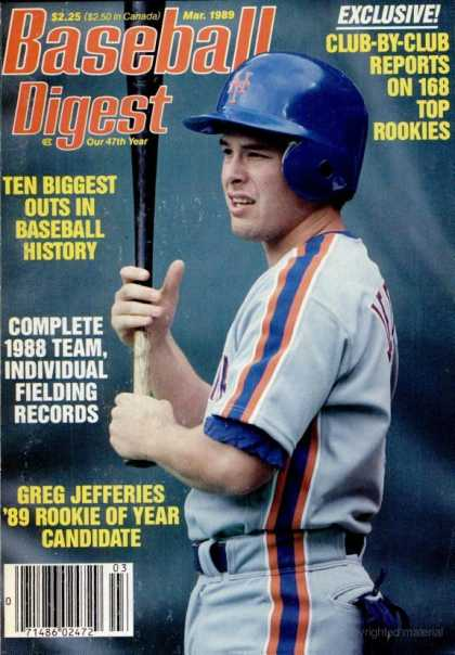 Baseball Digest - March 1989
