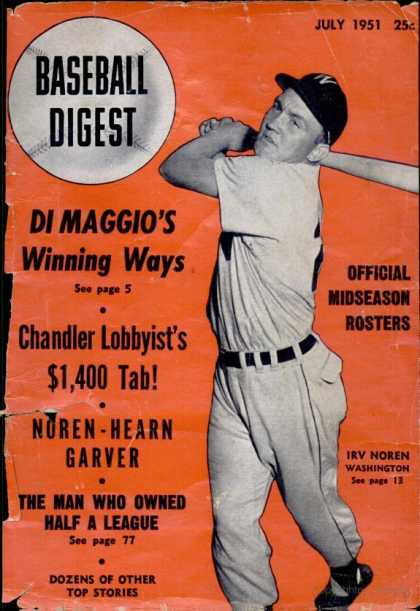 Baseball Digest - July 1951