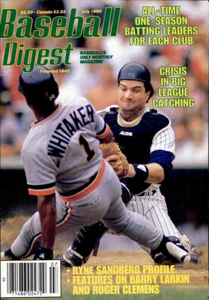 Baseball Digest - July 1990