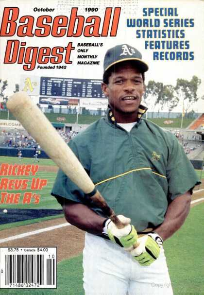 Baseball Digest - October 1990
