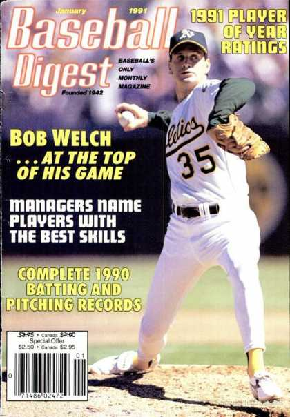 Baseball Digest - January 1991