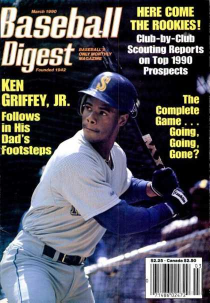 Baseball Digest - March 1991