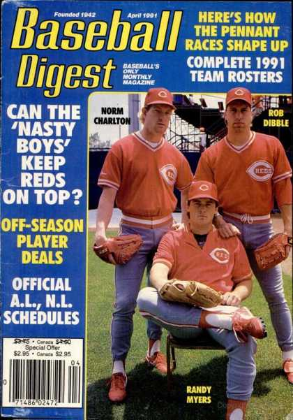 Baseball Digest - April 1991
