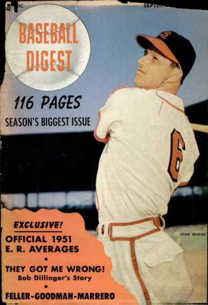 Baseball Digest - September 1951