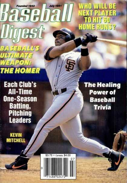 Baseball Digest - July 1991