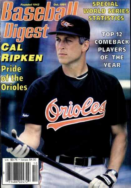 Baseball Digest - October 1991