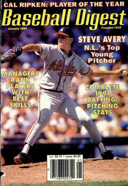 Baseball Digest - January 1992