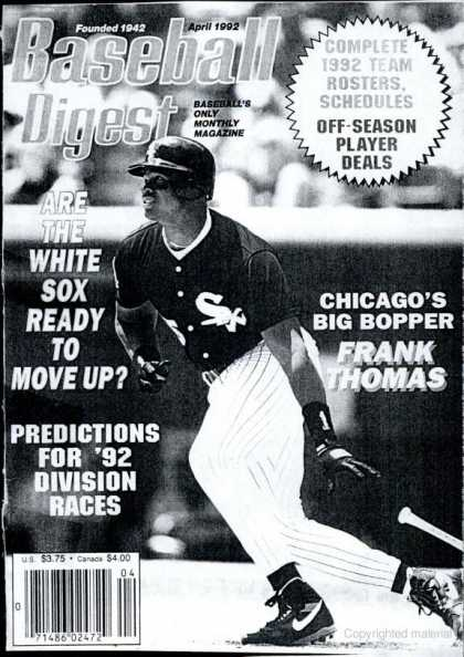 Baseball Digest - April 1992