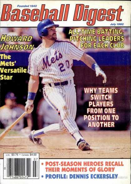 Baseball Digest - July 1992