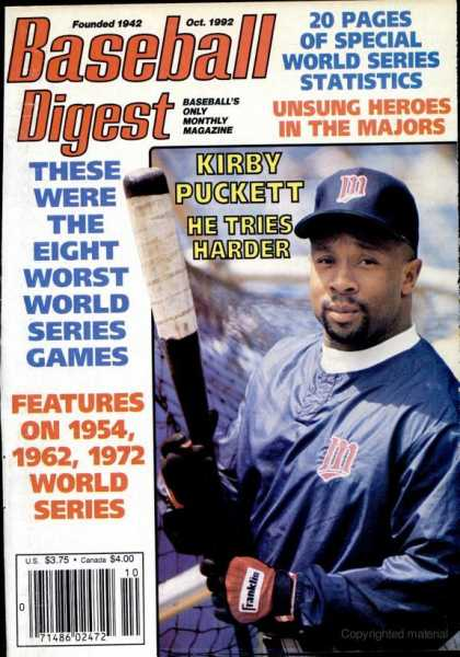 Baseball Digest - October 1992