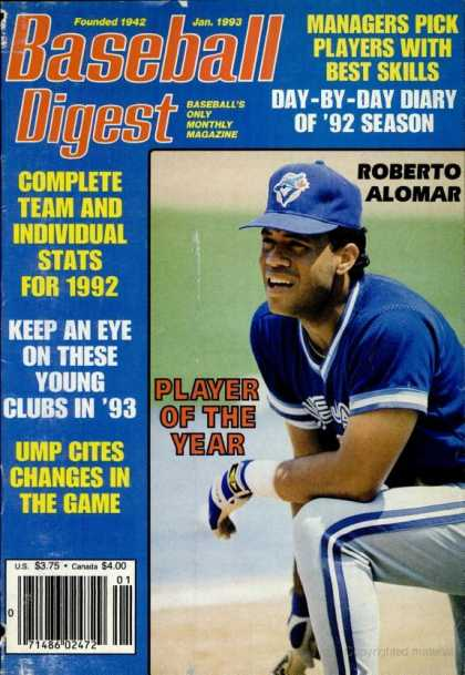 Baseball Digest - January 1993