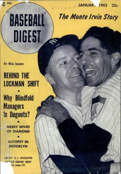 Baseball Digest - January 1952
