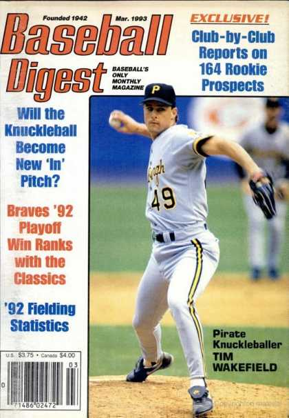 Baseball Digest - March 1993