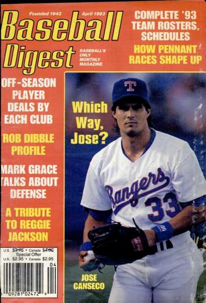 Baseball Digest - April 1993