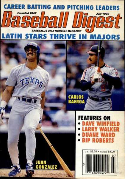 Baseball Digest - July 1993