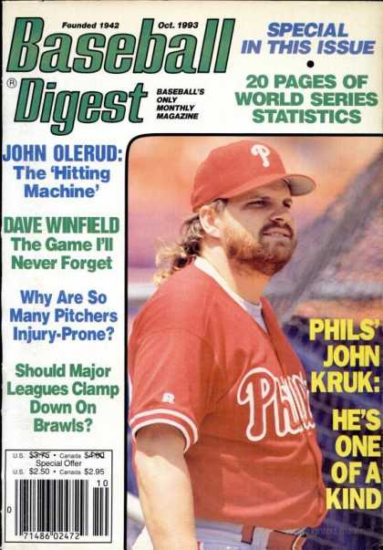 Baseball Digest - October 1993