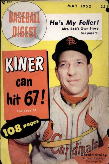 Baseball Digest - May 1952