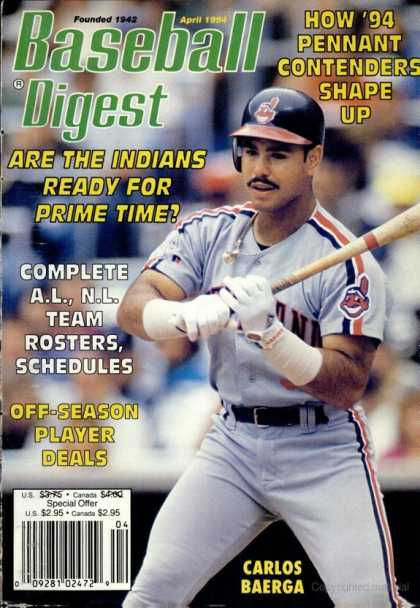 Baseball Digest - April 1994